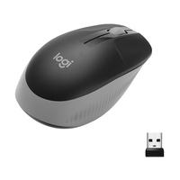 Logitech M190 Full-Size Wireless Mouse Computermuis - Zwart,Grijs