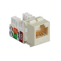 Black Box GigaTrue2 CAT6 Jack, Universal Wiring, Component Level, Single-Pack, Off White - Wit