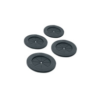 Middle Atlantic Products Grommet Kit 4 Inch Gland - 4 Piece - Noir