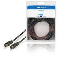 Valueline VLSB41300B100 Câble coaxial - Noir