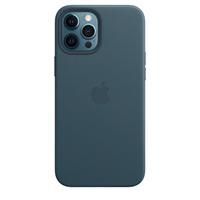 Apple Coque en cuir avec MagSafe pour iPhone 12 Pro Max - Bleu Baltique