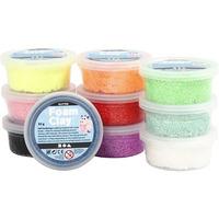 Creativ Company Foam Clay®, Couleurs assorties, à paillettes, 10x35gr Consommables de modélisation .....