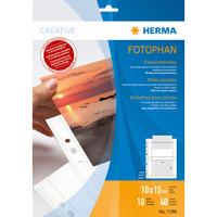 HERMA 7586 Chemise coin - Transparent, Blanc