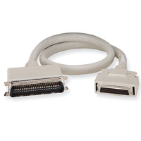 Black Box Micro D 50 Male to DB50 Male Cable, SCSI 2 - SCSI 1, 1.8m, 28 AWG Câble série - Gris