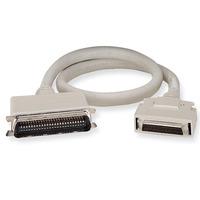 Black Box Micro D 50 Male to DB50 Male Cable, SCSI 2 - SCSI 1, 1.8m, 28 AWG Seriële kabel - Grijs