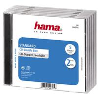 Hama CD Double Jewel Case Standard, Pack 5 - Transparant