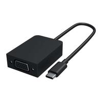 Microsoft Surface USB-C to VGA Adapter - Zwart