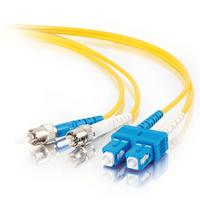 C2G 1m SC-ST 9/125 OS1 Duplex Singlemode PVC Fibre Optic Cable (LSZH) - Yellow Fiber optic kabel - Geel