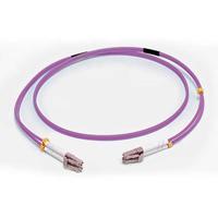C2G 1 M CORDON DE RACCORDEMENT FIBRE OPTIQUE LC/LC OM4 LSZH - VIOLET Câble de fibre optique