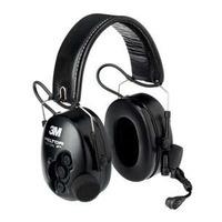 3M Headset met opvouwbare hoofdband en J11 plug, Zwart