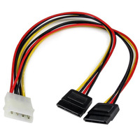 StarTech.com Câble d'Alimentation Adaptateur en Y Molex vers Double SATA - 30 cm