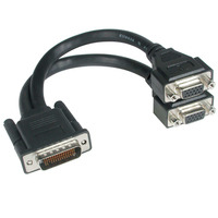 C2G LFH-59 Male to 2 VGA Female Cable - Noir