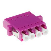 ACT Fiber optic LC-LC quad adapter OM4 - Violet