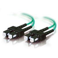C2G 1m SC-SC 10Gb 50/125 OM3 Duplex Multimode PVC Fibre Optic Cable (LSZH) - Aqua Fiber optic kabel - Turkoois