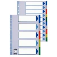 Esselte Plastic tabs, A4 Intercalaire