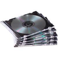 Fellowes 25x Slimline CD doosjes - Zwart, Doorschijnend