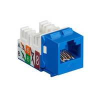 Black Box GigaTrue2 CAT6 Jacks, Universal Wiring, Component Level, 25-Pack, Blue - Blauw