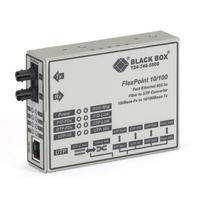 Black Box FlexPoint Modular Media Converter, 10BASE-T/100BASE-TX to 100BASE-FX, Multimode, ST Convertisseur .....