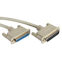 ROLINE RS232 Kabel D25 M/F 6,0m Seriële kabel - Grijs