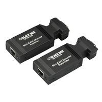 Black Box Mini-extender VGA CAT5 Rallonges AV - Noir