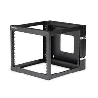StarTech.com 8U 22inch Diep Scharnierend Open Frame Serverrack Wandmontage Stellingen/racks - Zwart
