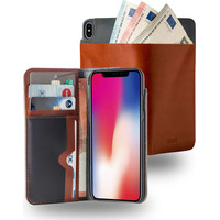 Azuri Walletcase with cardslots and money pocket - camel - voor iPhone X/Xs