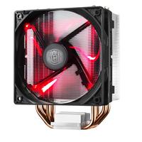 Cooler Master Hyper 212 LED Ventilateur - Noir, Métallique, Rouge