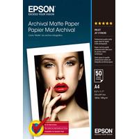 Epson Archival Matte Paper - A4 - 50 Vellen Fotopapier - Wit