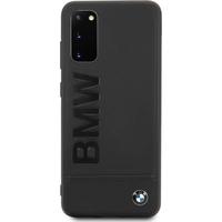 BMW Leather Backcover Samsung Galaxy S20 - Zwart - Zwart / Black