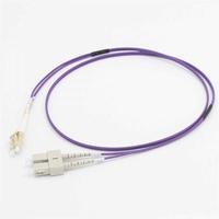 C2G 2M LC/SC OM4 LSZH VEZELPATCH - PAARS Fiber optic kabel - Violet