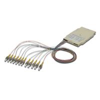 Digitus FO splice cassette with 12 colored pigtails ST (UPC), MM OM3 50/125 µ, LSZH Glasvezel-adapters