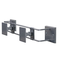 R-Go Tools R-Go Steel Double Screen Etrier mural, réglable, argenté Support mural et au plafond