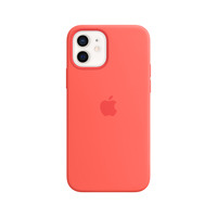 Apple Coque en silicone avec MagSafe pour iPhone 12 | 12 Pro - Rose agrume