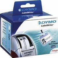 DYMO Removable White name badge labels étiquette - Blanc
