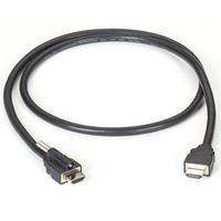 Black Box HDMI Cable, Locking HDMI to Standard HDMI - Noir
