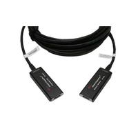 Opticis DisplayPort extender. Lengte: 10. Eenh. 1 stk - Zwart