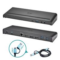 I-tec USB 3.0 / USB-C / Thunderbolt 3, 3x 4K Docking Station + Power Delivery 85W Station d'accueil - Noir