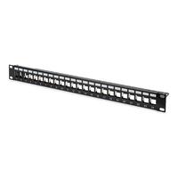 Digitus Modular Patch Panel, shielded 24-port, blank, 1U, rack mount, black RAL 9005 Patchpaneel - Zwart