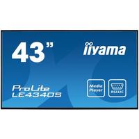 Iiyama ProLite LE4340S-B1 Public Display - Zwart