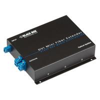 Black Box Mini Extender and Splitter for DVI-D and stereo Audio over Fibre Videosplitter - Zwart