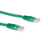ACT Cat6 UTP, RJ-45, 50µ goud, 3.0m, Groen Netwerkkabel