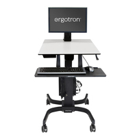 Ergotron WorkFit-C, Single LD Sit-Stand Workstation Multimedia karren & stands - Zwart,Grijs