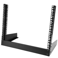 StarTech.com 8U Desktop rack serverkast 2-stijlen Open Frame Rack Stellingen/racks - Zwart