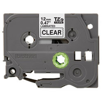 Brother 12 mm zwart op transparante tape gelamineerd (8 m) Labelprinter tape - Grijs