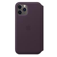 Apple Leren Folio-hoesje voor iPhone 11 Pro - Aubergine - Paars