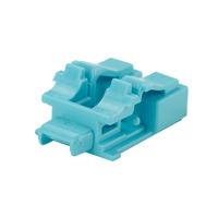 Panduit LC duplex adapter block-out devic, 10 Pcs, Aqua Protecteur de câble - Couleur aqua