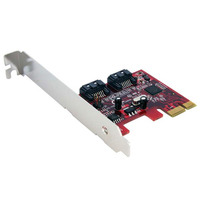 StarTech.com Carte contrôleur 2 ports SATA 6Gbps PCI Express SATA Adaptateur Interface - Rouge,Argent