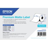 Epson Premium Matte Label - Continuous Roll: 105mm x 35m Etiket - Wit