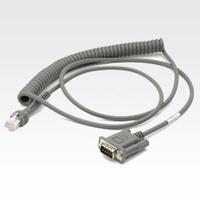 Zebra RS232 Cable CBA-R09-C09ZAR Accessoire de lecteurs de codes à barres - Gris