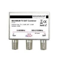 Maximum TV-SAT Combiner High Isolation Répartiteur de câbles - Métallique